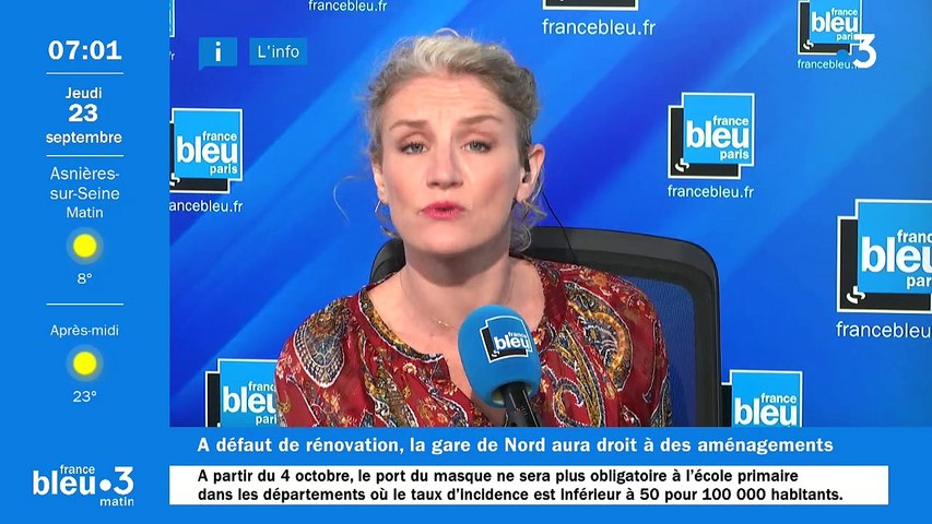 23/09/2021 - Le 6/9 de France Bleu Paris en vidéo