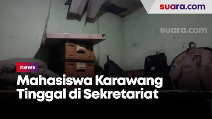 Cerita Mahasiswa Karawang Tinggal di Sekretariat Tak Layak Huni Digigit Tikus hingga Bengkak...