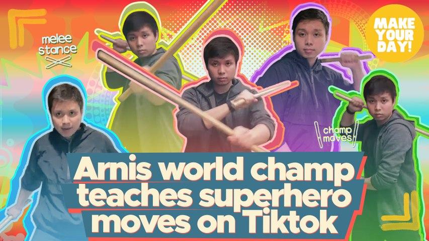 Arnis world champ teachers superhero moves on Tiktok   Make Your Day