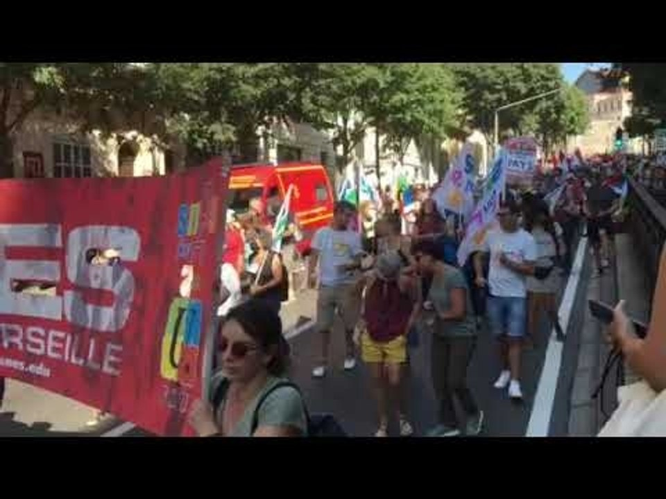 Vidéo - Marseille : les profs manifestent leur colère et mal-être