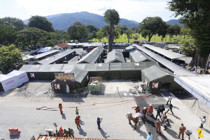 槟城医院的野战医院进入最后的检查工作