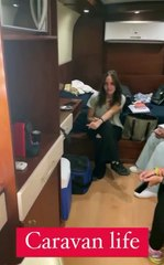 """شيرين رضا تستمتع بوقتها في كواليس مسلسل """"60 دقيقة"""": """"حياة الكرفان"""""""