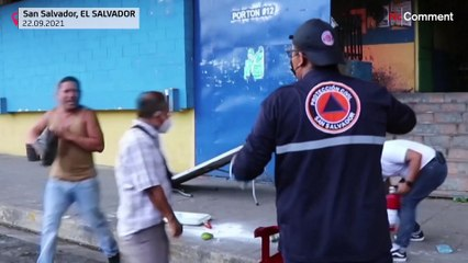 Incendio sin víctimas en el mercado de San Miguelito en El Salvador
