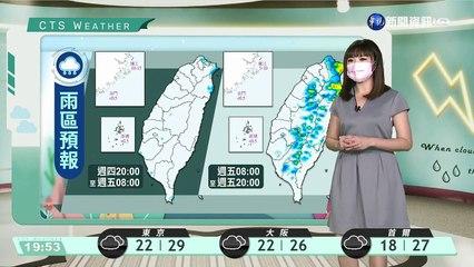 東北風逐漸增強.暑氣稍減