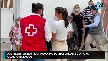 Los Reyes visitan La Palma para trasladar su apoyo  a los afectados