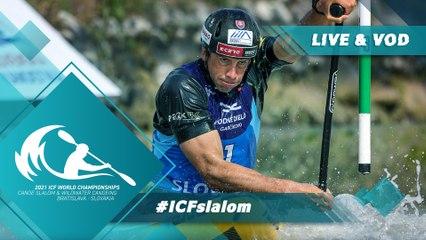 2021 ICF Canoe Kayak Slalom & Wildwater World Championships Bratislava Slovakia / Slalom Canoe Heats