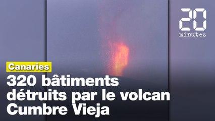 Canaries : 320 bâtiments détruits par le volcanCumbre Vieja en éruption