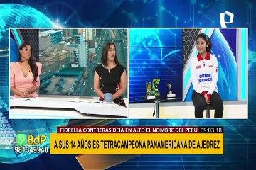 Fiorella Contreras a sus 14 años es Tetracampeona Panamericana de Ajedrez
