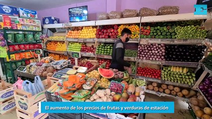 El aumento de los precios de frutas y verduras de estación