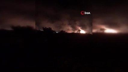 Mersin'de ormanlık alan alev alev yandı