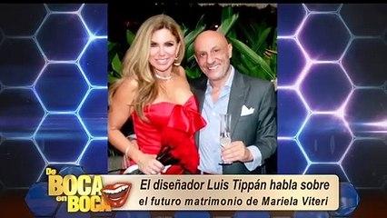 Luis Tippán dice que sí le gustaría diseñar el vestido de novia de Mariela Viteri