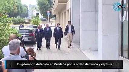 Puigdemont, detenido en Cerdeña por la orden de busca y captura