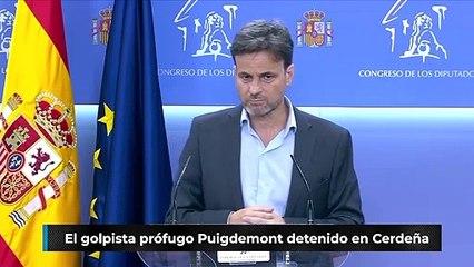 El golpista prófugo Puigdemont detenido en Cerdeña