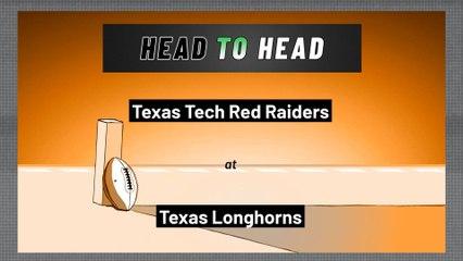 Texas Longhorns - Texas Tech Red Raiders - Over/Under