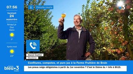 24/09/2021 - Le 6/9 de France Bleu Bourgogne en vidéo