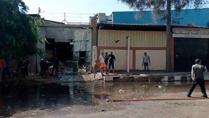 إخماد حريق نشب في مصنع جلود ومخازن بمنطقة السلام ببورسعيد