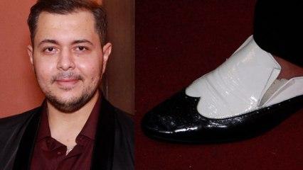 نجل سامي مغاوري يرتدي حذاء شعبان عبد الرحيم: مش بقارن نفسي بيه