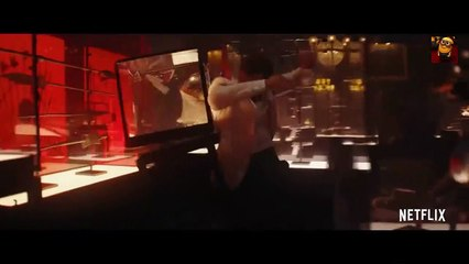 RED NOTICE Fight Scene (2021)