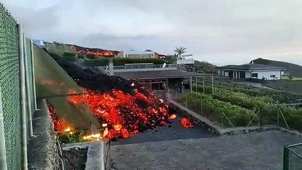 Eruption volcanique à La Palma dans les iles Canaries