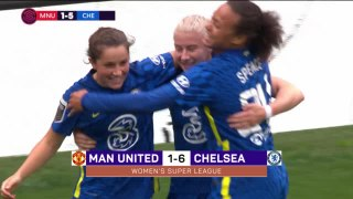 Kerr scores twice as champions Chelsea demolish Man United
