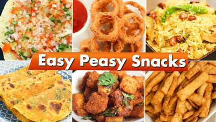 Easy Snack Recipes   Snacks For Children   Snacks In 15 Minutes   Onion Rings   Masala Papad