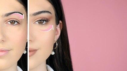 طريقة عمل مكياج عيون وتسريحة شعر لسحب العين بشكل طبيعي