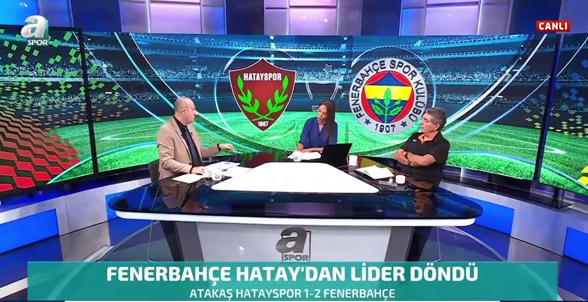 """A Spor'da Ümit Aktan, Fenerbahçe Teknik Direktörü Vitor Pereira için """"Küçük aklıyla"""" ifadesini kullandı"""