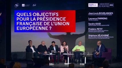 Quels objectifs pour la présidence française de l'Union Européenne - UR2021