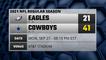 Eagles @ Cowboys Game Recap for MON, SEP 27 - 08:15 PM EST