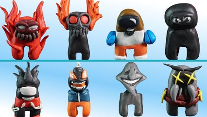 Making Among Us - All Friday Night Funkin Mod Skins From Plasticine - PART 1