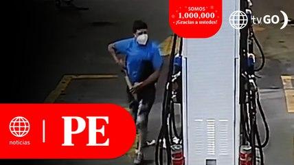 Comas: Ladrones asaltaron grifo por octava vez   Primera Edición