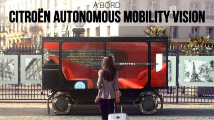 A bord du Citroën Autonomous Mobility Vision (2021)