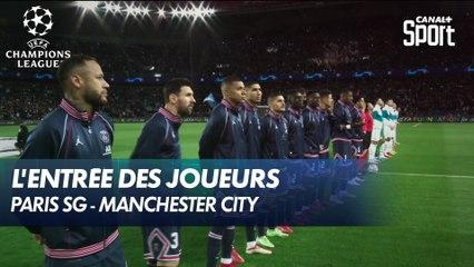 L'entrée des joueurs sur la pelouse - Paris SG / Man. City