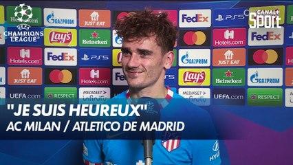 Interview d'après match d'Antoine Griezmann - AC Milan / Atletico de Madrid