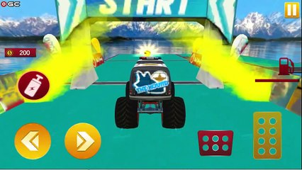 Monster Truck Stunt Racing 3D Game / Impossible Race Driver / Android GamePlay #2
