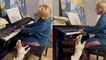 'Jack Russell Terrier sings with passion as her owner plays piano '