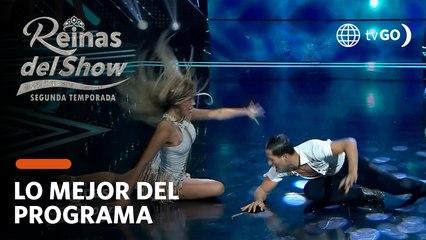 Reinas del Show 2: Gabriela Herrera sufrió caída en vivo durante versus de bachata (HOY)