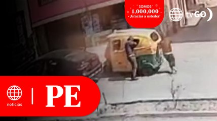 Delincuentes embisten mototaxi y asaltan a mujer   Primera Edición