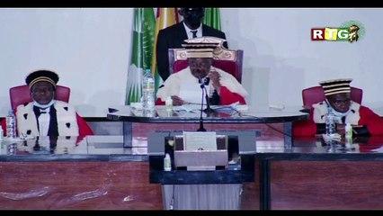 """Investiture de Mamadi Doumbouya : discours fort de Mamadou Sylla """"syma"""" président de la Cour Suprême"""