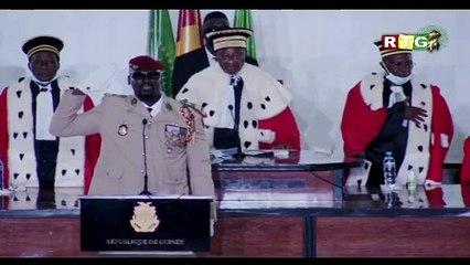 Guinée : prestation de serment de Mamadi Kourouma...