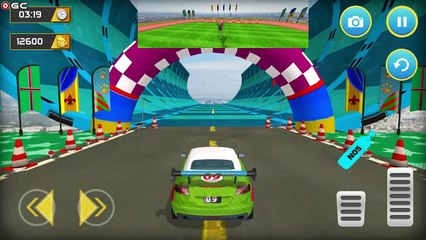 Dinosaur Car Chase Ramp Stunts / Best Car Racing Game / Android GamePlay