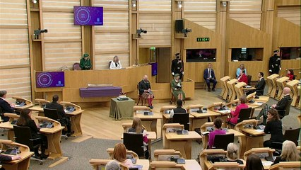 Queen marks happy times with Philip as she opens Holyrood