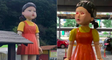 'Squid Game': Netflix Installed Replica of the Murdering Robot Doll at a Shopping Mall ! OMG !