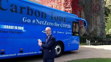 Carbon Tour bus rolls into Towneley Park