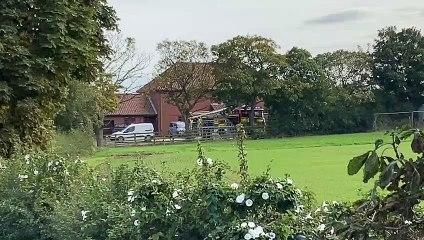 Claxton Bank farm fire