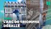 Arc de Triomphe: l'œuvre de Christo et Jeanne-Claude démontée