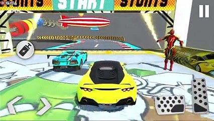 Superhero Car Racing / Stunts Mega Jumping Game 2021 / Android GamePlay