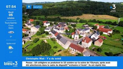 05/10/2021 - Le 6/9 de France Bleu Creuse en vidéo