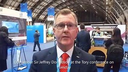 Conservative conference 2021 Sir Jeffrey Donaldson