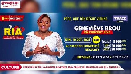 5e édition du RIA : La chantre Geneviève Brou promet un spectacle riche en «onction»